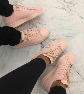 shoes adidas shoes adidas adidas superstars adidas originals pink taupe nude sneakers adidas supercolor