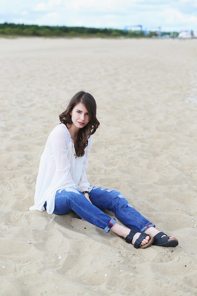 kapuczina blogger jeans shoes jewels