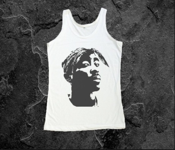 shirt tupac tank top