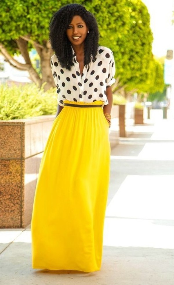 skirt maxi skirt yellow summer