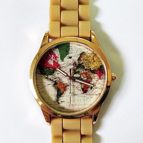 Edition map watch women watches boyfriend watch world map mens limited edition map watch women watches boyfriend watch world map mens watch rose gold case tan gumiabroncs Image collections