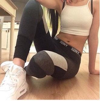pants white shoes son yoga pants leggings sports pants nike air nike air max 90 sweatpants sporty style sportswear pants sport leggings