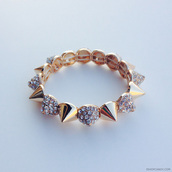 jewels,ishopcandy,spikes,bracelets,gold,jewelry,armcandy,arm candy