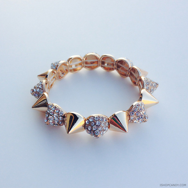 jewels ishopcandy spikes bracelets gold jewelry armcandy arm candy
