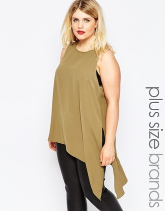 blouse asymmetrical tunic army green olive green asymmetrical top loose shirt silk