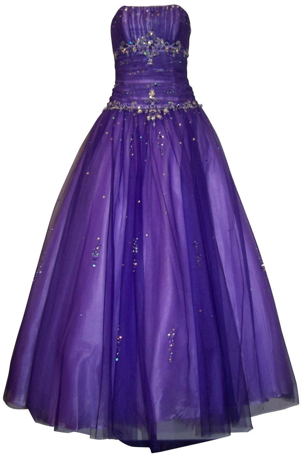 Amazon.com: Autoalive Beaded Mesh Fairy Prom Dress Formal Ball Gown ...