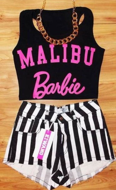 tank top malibu barbie shorts