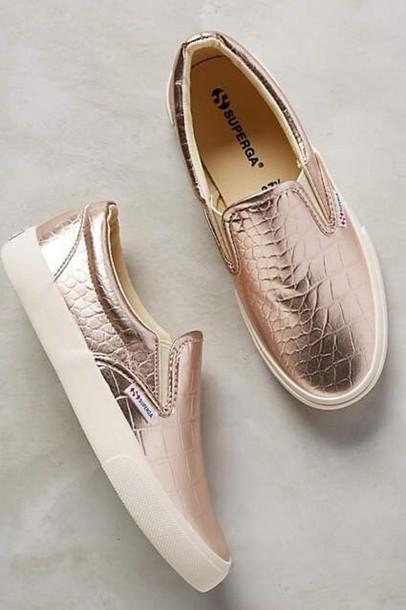 shoes rose gold slip on shoes superga rose elegant elegant shoes wheretoget. Black Bedroom Furniture Sets. Home Design Ideas