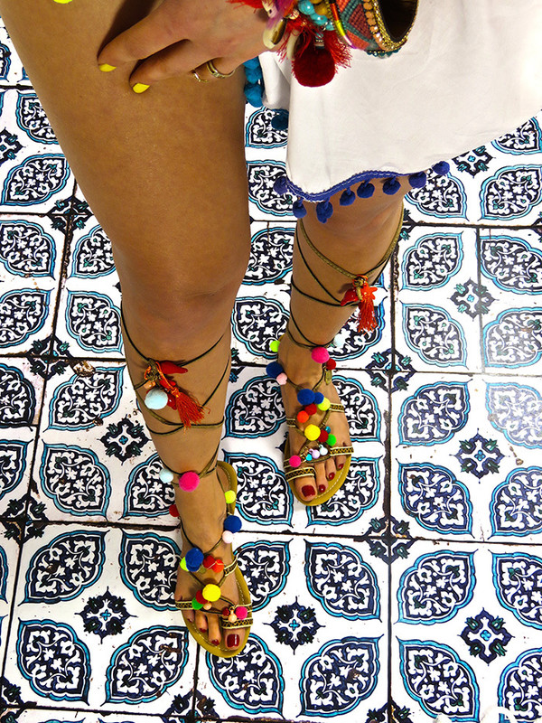 shoes pom poms girl pink pompom sandals flat sandals cute sandals girly summer elina