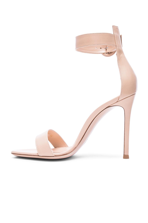 6af53b7a5 Gianvito Rossi Leather Portofino Heels in Nude | FWRD