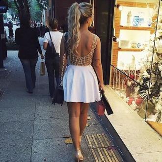 dress white dress go out summer dress