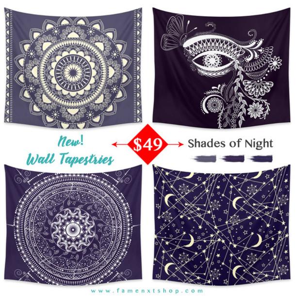 Mandala Wall Decor home accessory: mandala, sun moon stars, bohemian, famenxtshop