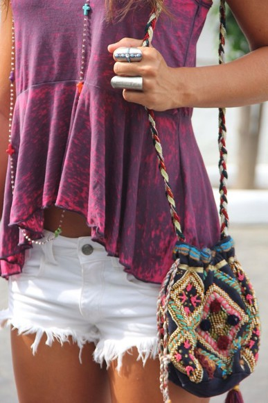 shirt bag jewels cross necklace rings silver rings shorts