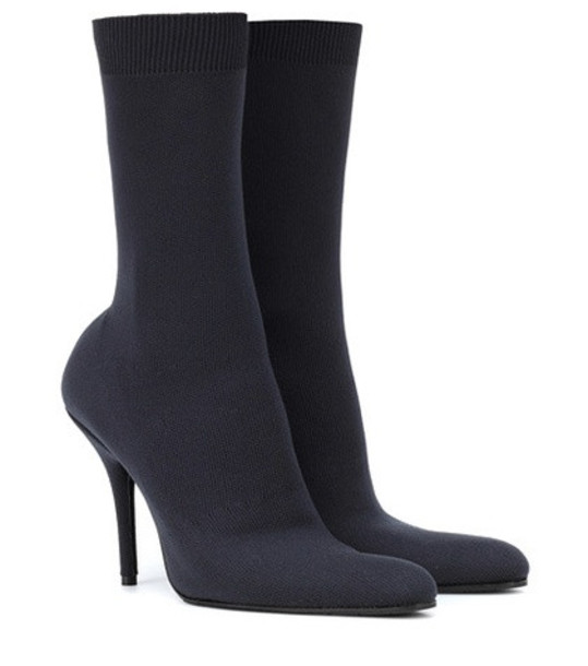 Balenciaga Stretch-jersey ankle boots in grey