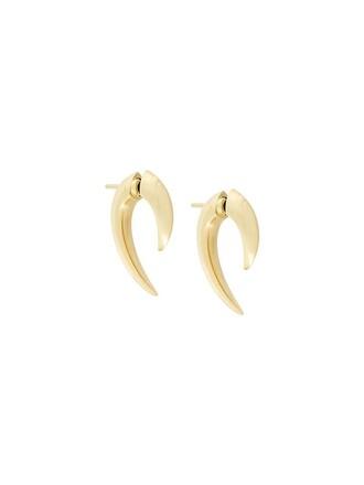 metallic women earrings gold yellow jewels