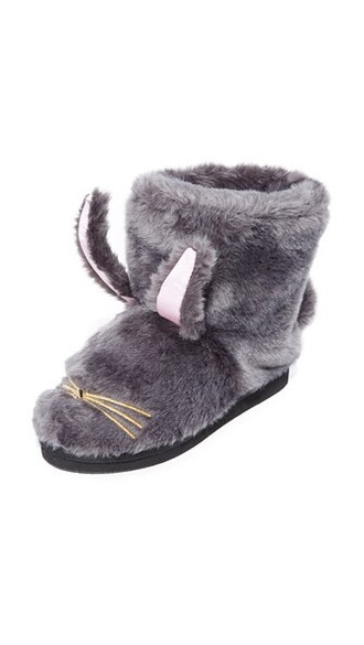 bunny fur faux fur light pink light booties gold pink grey shoes