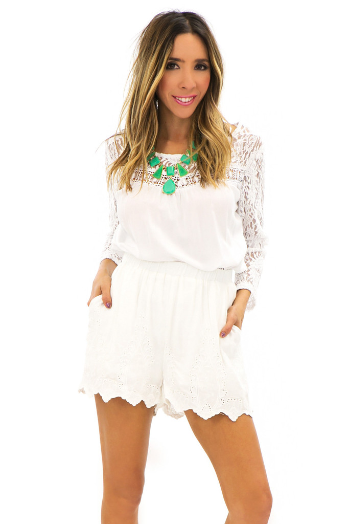 CALLIOPE LACE DETAIL SHORTS | Haute & Rebellious
