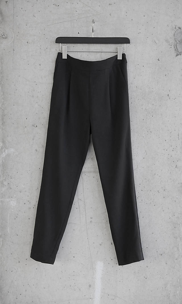 Wool Express Edition High Rise Tuxedo Ankle Pant from EXPRESS