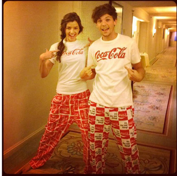 pjs t-shirt pajamas sleep coke coca cola elounor louis tomlinson eleanor