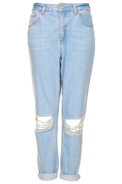 Ripped knee boyfriend jeans – kitschy