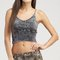 Mineral wash knit crop top