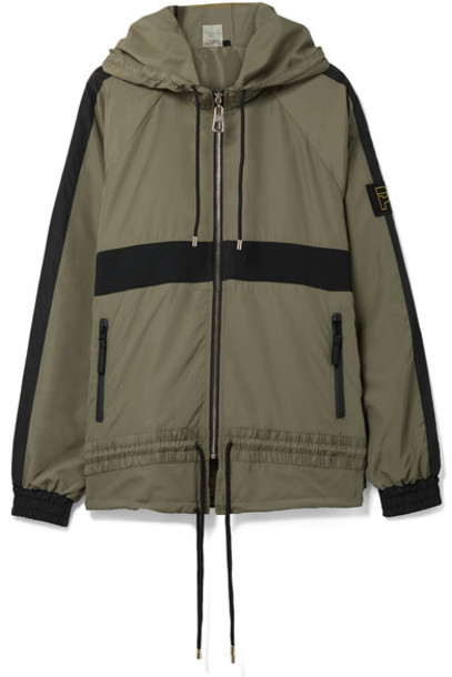 P.E Nation jacket shell green army green