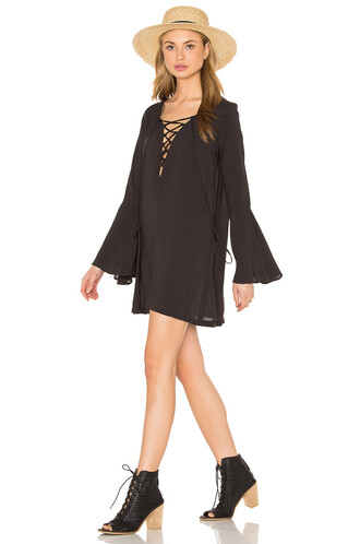 dress tunic dress lace black