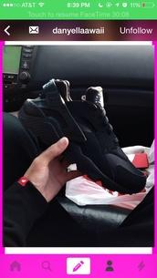 huarache,black,nike,nike huaraches black,shoes,sneakers,cool,swag,jordans,adidas,puma,black shoes,nike running shoes,nike air,nike shoes,running shoes
