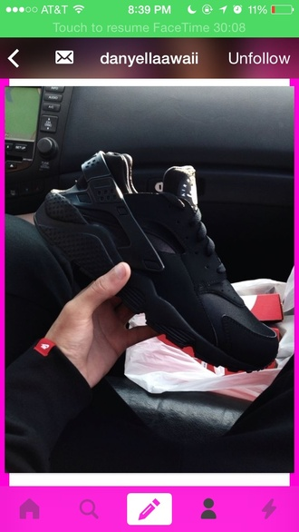huarache black nike nike huaraches black shoes sneakers cool swag jordans adidas puma black shoes nike running shoes nike air nike shoes running shoes