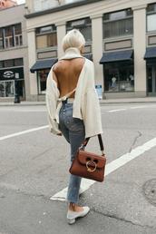 the haute pursuit,blogger,bag,jewels,shoes,open back,brown bag,mid heel pumps