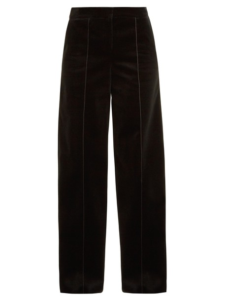 Amanda Wakeley high cotton velvet black pants