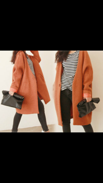 pea coat fall outfits winter outfits vintage clothes bag rust