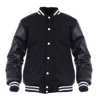 jacket letterman jacket black white stripes black jacket