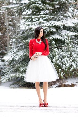 skirt white tulle skirt