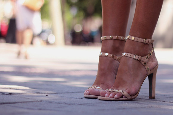 shoes nude sandals cute high heels sexy trendy