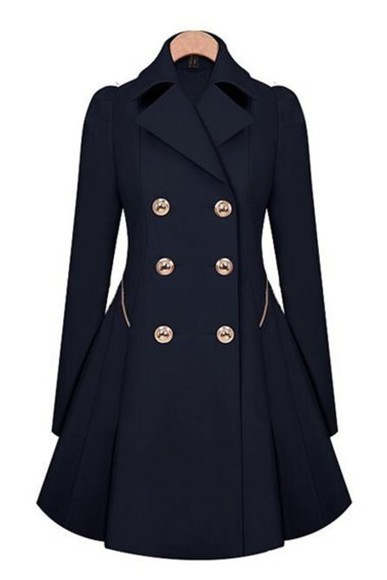 buttons detailed trench coat fall outfits