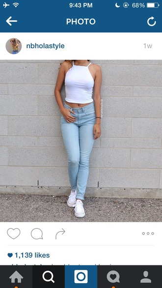 shirt white crop tops straps