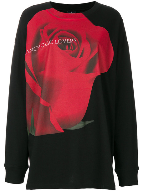 Marcelo Burlon County Of Milan - Uske over T-shirt - women - Cotton/Polyester - M, Black, Cotton/Polyester