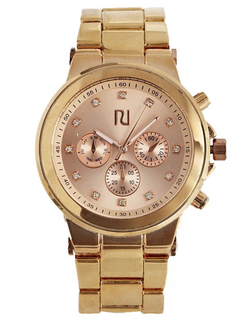 River Island Rose Gold Aminola Chronograph Watch at asos.com
