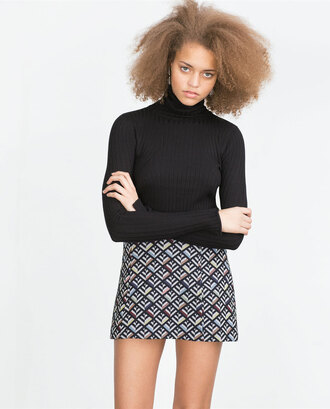 skirt jacquard geometric