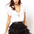 Women's Pu Faux Leather Tassels Decorated Skirt online - vessos.com