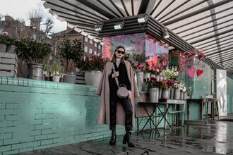 lolita mas blogger shoes jacket pants coat sunglasses top bag crossbody bag winter outfits boots