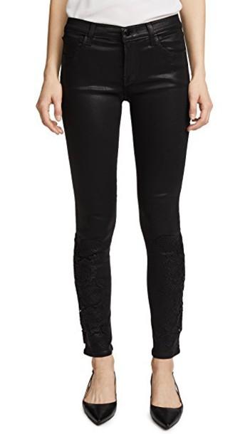 J BRAND jeans skinny jeans lace black black lace