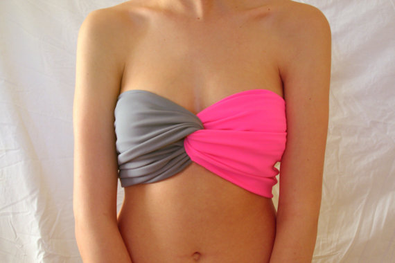 Spandex Bandeau  Neon Pink by Holdensmaaa on Etsy