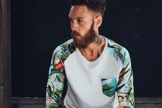 shirt long sleeve shirt mens shirt tropical menswear pocket t-shirt