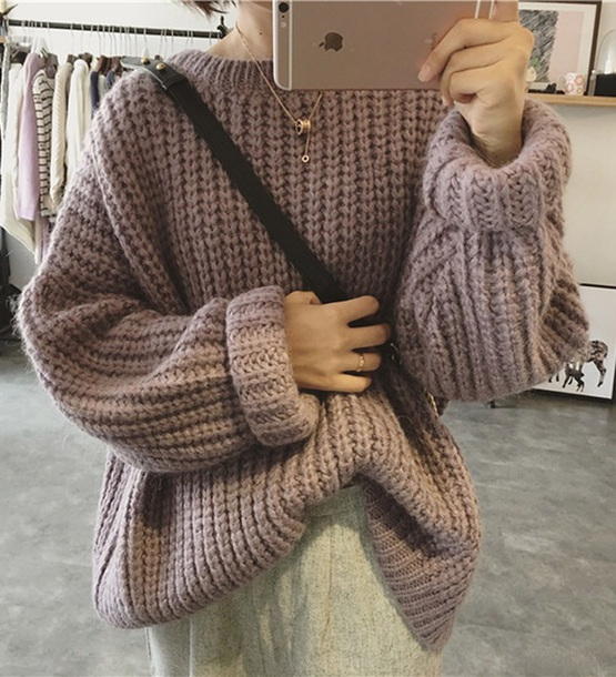 sweater girly sweatshirt jumper fall outfits fall sweater fall colors knitwear knit knitted sweater tumblr purple