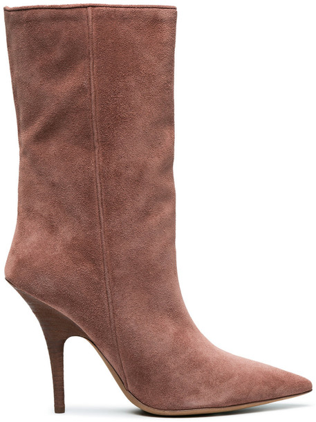 women ankle boots leather suede brown shoes