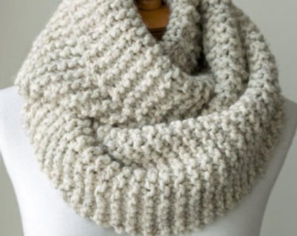 scarf knitwear chunky