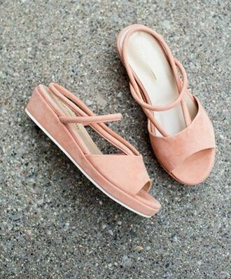 shoes suede shoes peach suede summer shoes pink shoes nude shoes sandals platform shoes cut out shoes