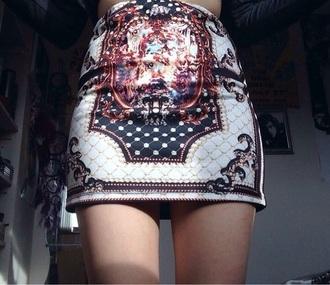 skirt sexy mini skirt print